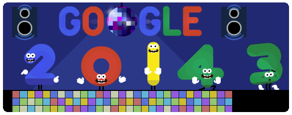 Google doodle New Year 2014